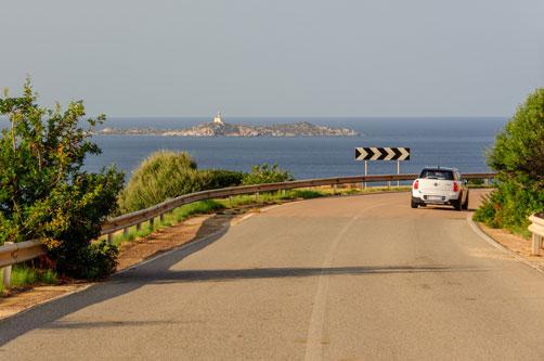 Küstenstraße Richtung Villasimius