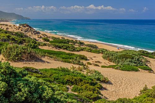 Sanddünen an der Costa Verde