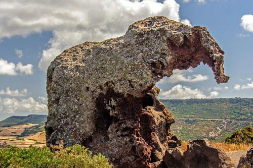 Castelsardo, Elefanten-Fels