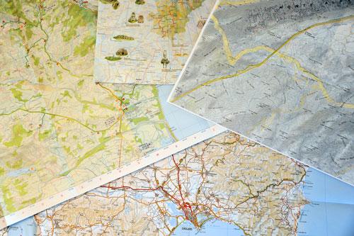 Karten von Sardinien