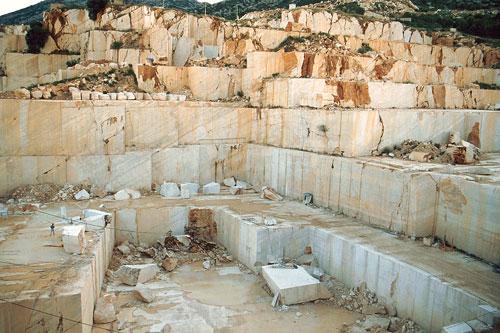 Marmor-Steinbruch