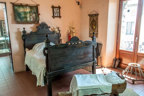 Museum, sardisches Schlafzimmer