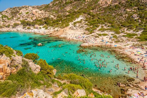 Isola Spargi, Cala Corsara
