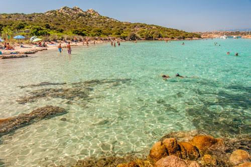 Isola Budelli, Spiaggia Cavaliere