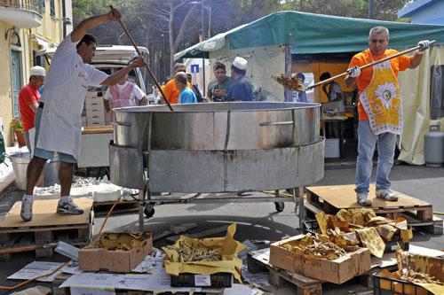 Fischfest in Santa Lucia